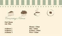 Begie and Green Bakery Business Card Template